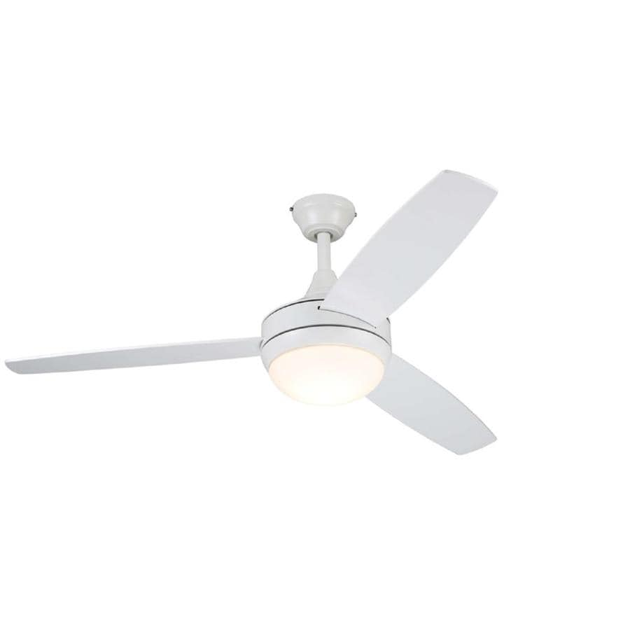 Shop Harbor Breeze Beach Creek 44 In White Led Indoor Ceiling Fan Wiring Without Remote With Light Kit And