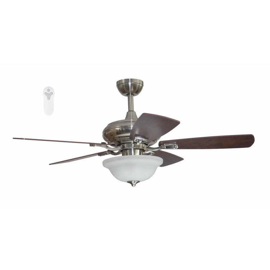 Litex Connexxtion 44-in Brushed Nickel Indoor Downrod Mount Ceiling Fan with Light Kit and Remote