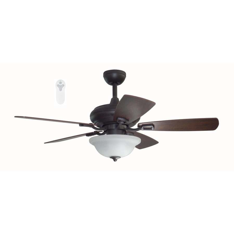 Litex Connexxtion 44-in Bronze Indoor Downrod Mount Ceiling Fan with Light Kit and Remote