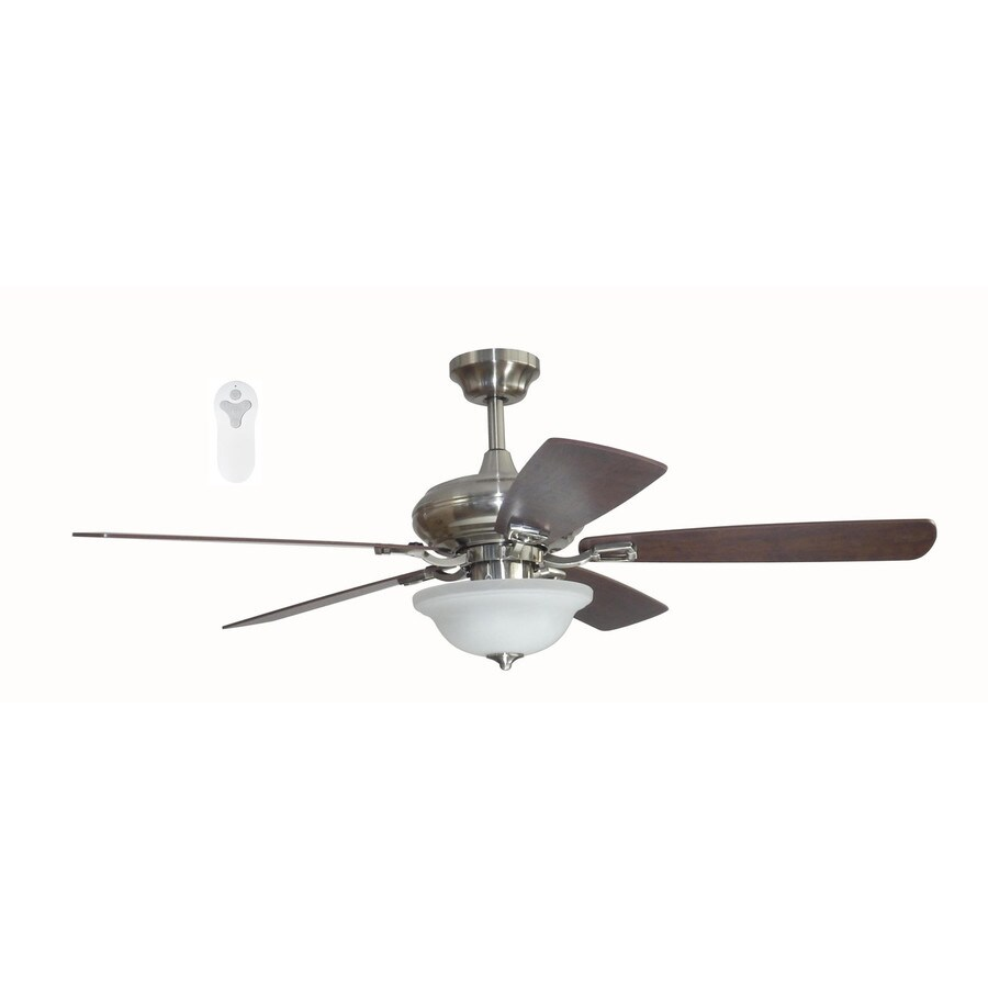 52 Ceiling Fan With Light Kit Indoor Outdoor Downrod: Shop Litex Connexxtion 52-in Brushed Nickel Indoor Downrod