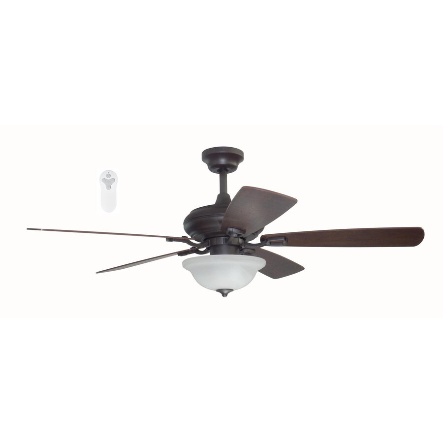 Litex Connexxtion 52-in Bronze Indoor Downrod Mount Ceiling Fan with Light Kit and Remote