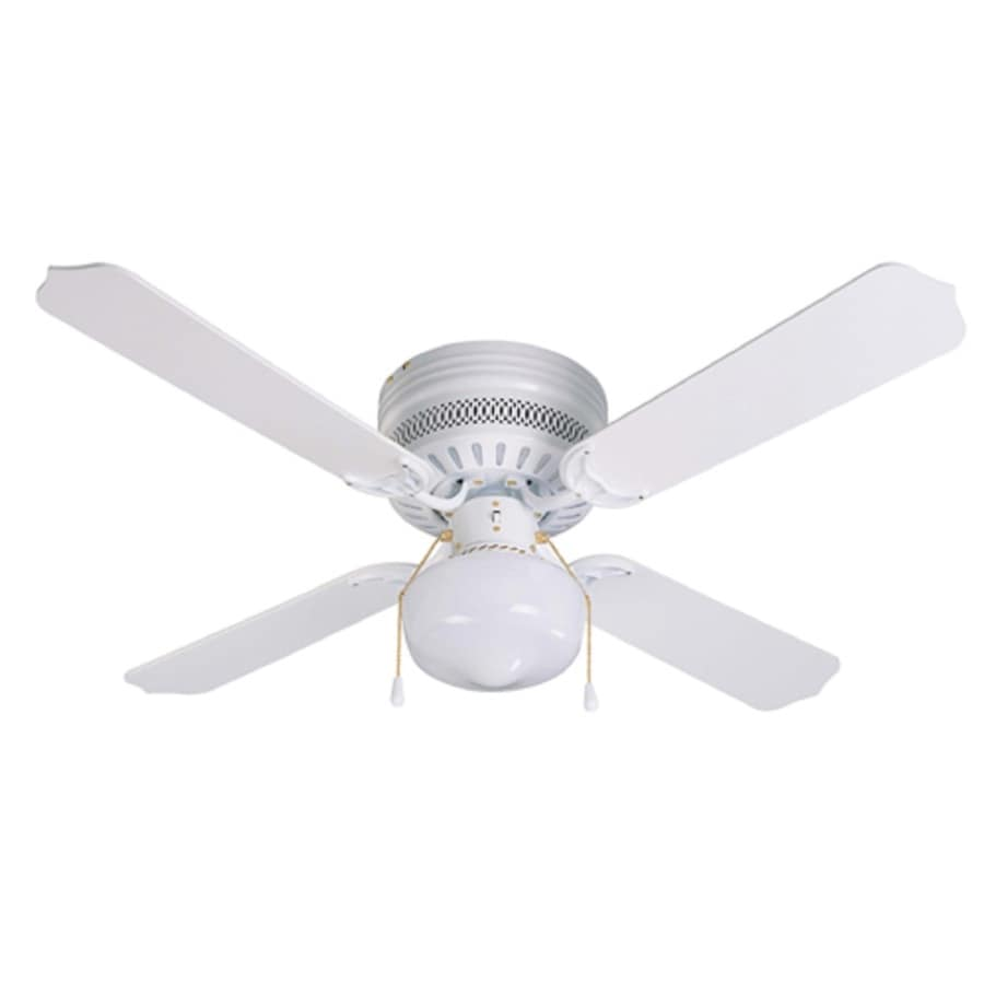 42 Ceiling Fans With Lights: Litex Celeste 42-in White LED Indoor Ceiling Fan With
