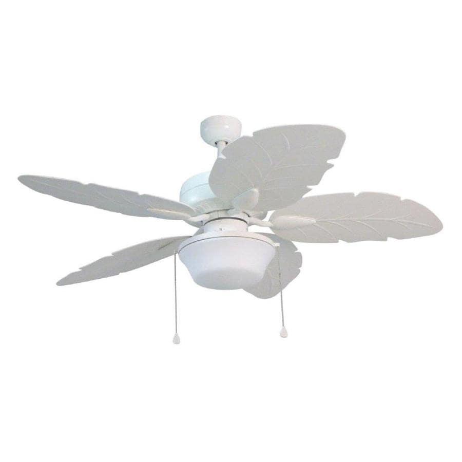 Outdoor Ceiling Fans With Light: Shop Harbor Breeze Waveport 52-in White LED Indoor/Outdoor