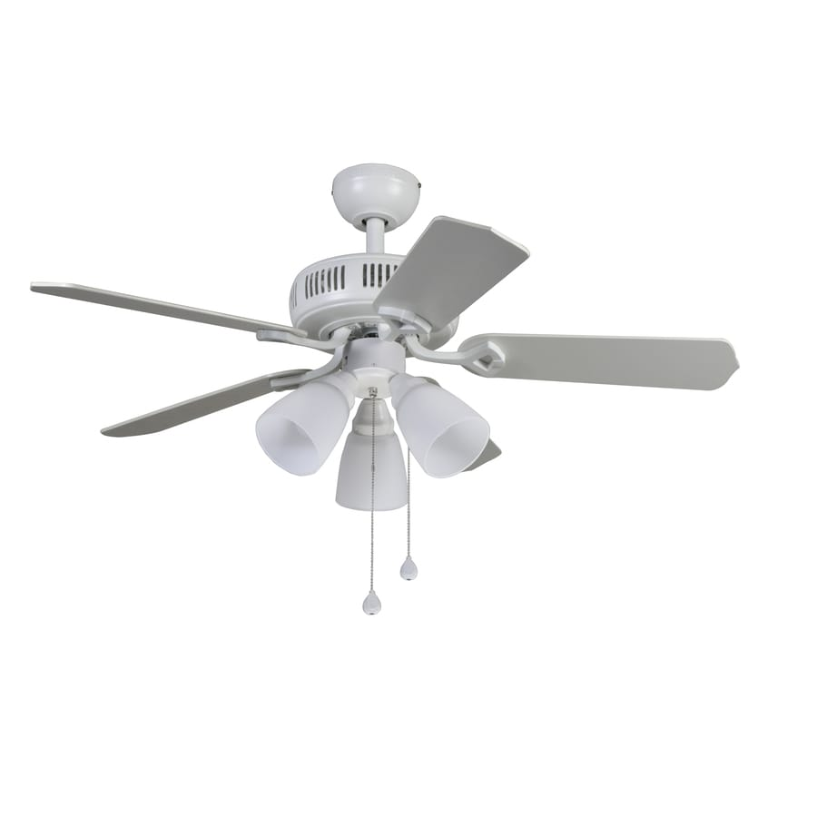 Harbor Breeze Barnstaple Bay 42-in White Indoor Downrod Or Close Mount Ceiling Fan with Light Kit