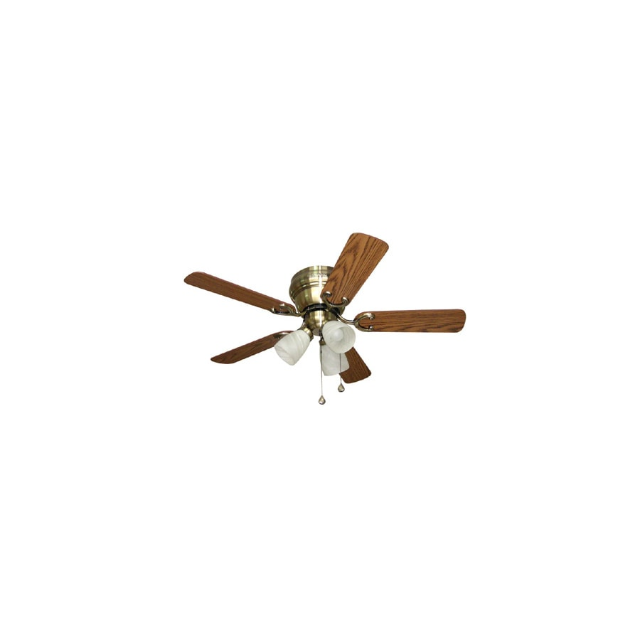 Shop harbor breeze cheshire ii 42 in antique brass indoor flush harbor breeze cheshire ii 42 in antique brass indoor flush mount ceiling fan with light aloadofball Gallery