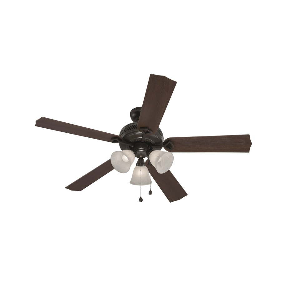 Harbor Breeze Barnstaple Bay 52 In Bronze Indoor Downrod Mount Ceiling Fan With Light Kit