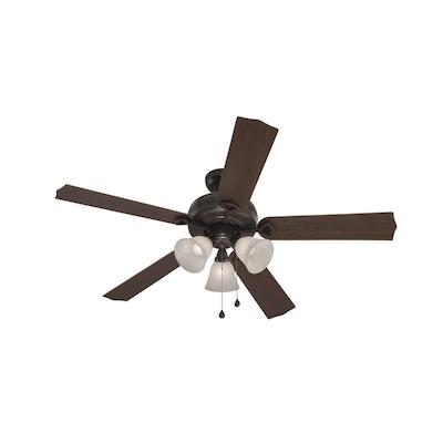 Harbor Breeze Barnstaple Bay 52-in Bronze Indoor Ceiling Fan with ...