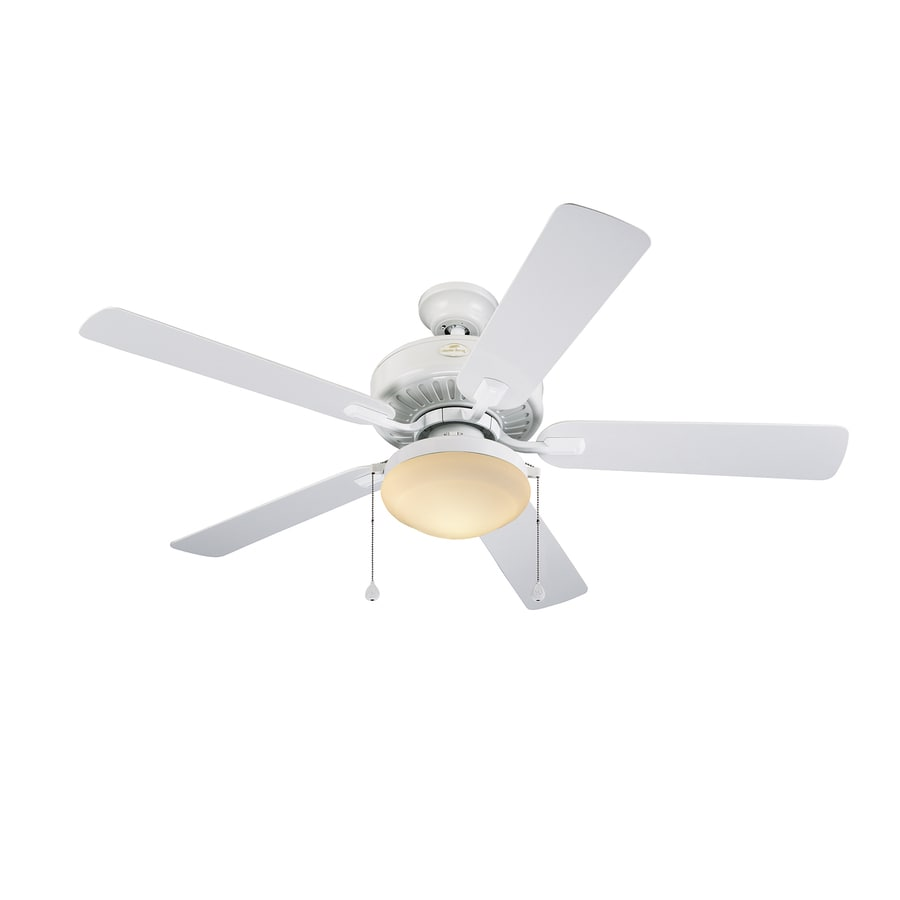 Harbor Breeze Cape Coast 52-in White Downrod Mount Indoor/Outdoor Ceiling Fan with Light Kit