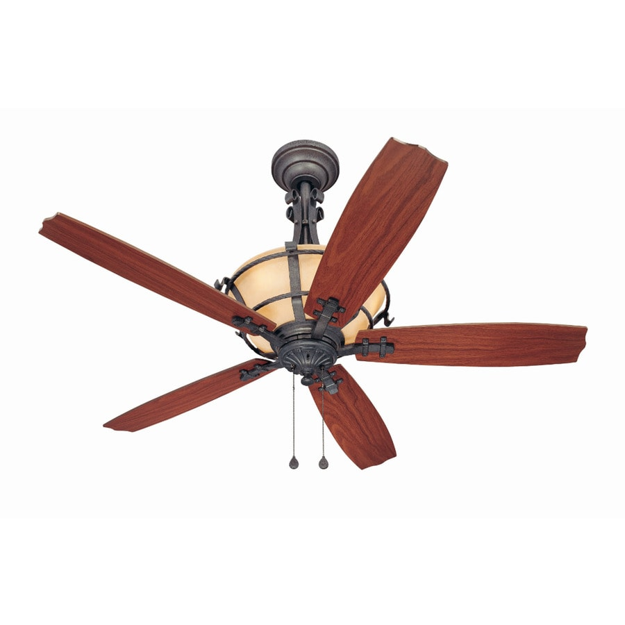 Harbor Breeze Lynnhaven 54-in Vintage Iron Downrod Mount Indoor Ceiling Fan Standard