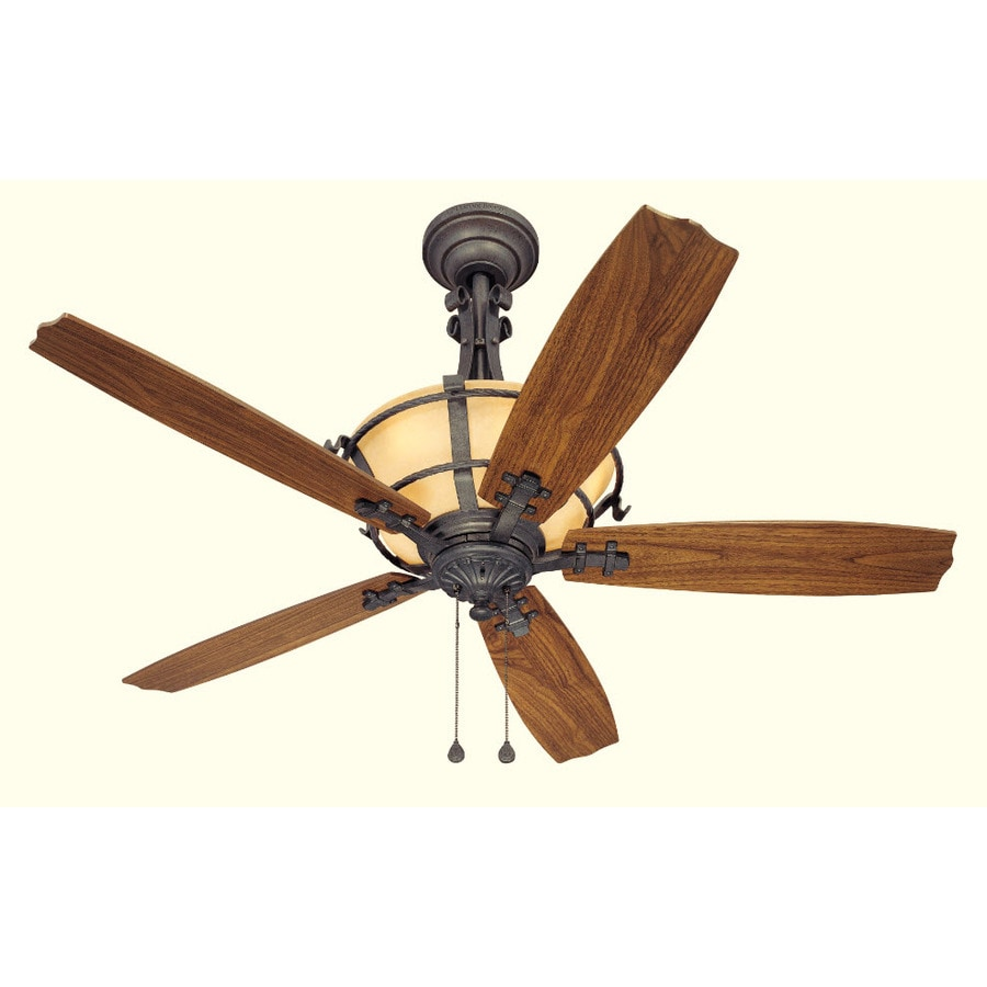 Harbor Breeze 54-in Lynnhaven Vintage Iron Ceiling Fan with Light Kit