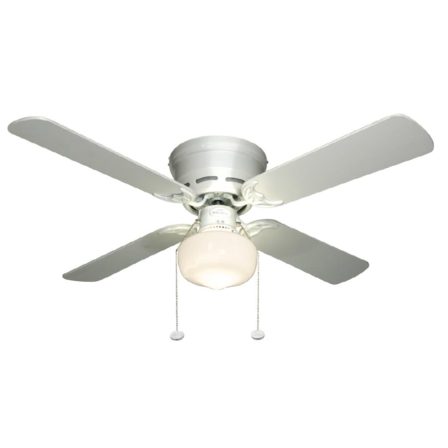 Harbor Breeze Armitage 42 In White Flush Mount Indoor Commercial Ceiling Fan With Light Kit