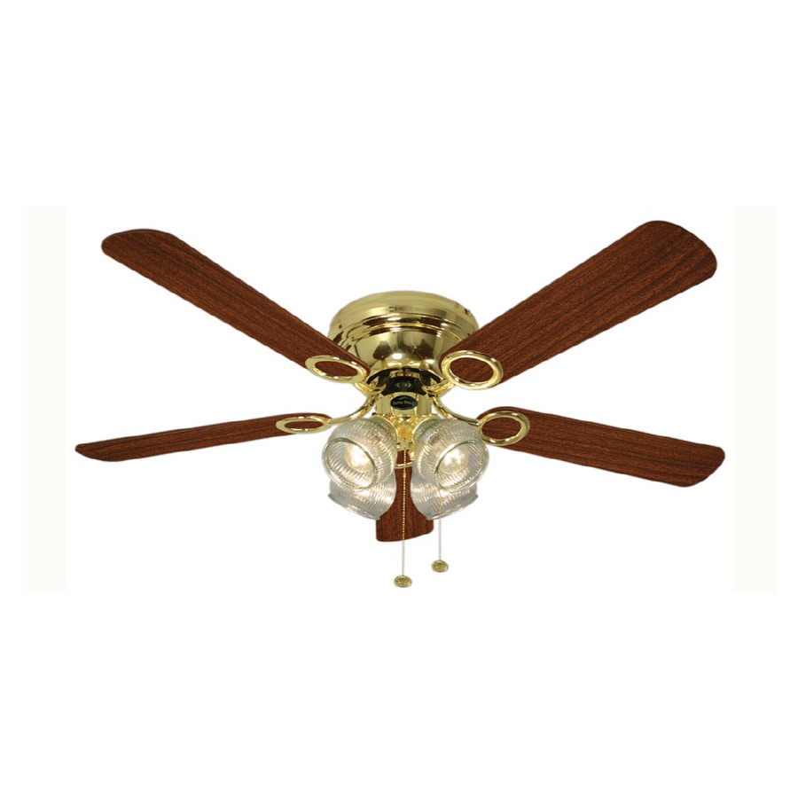 Harbor Breeze 52 Quot Cheshire Polished Brass Ceiling Fan At