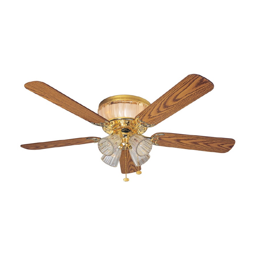 Shop harbor breeze 52 moonglow polished brass ceiling fan Harbor breeze ceiling fan