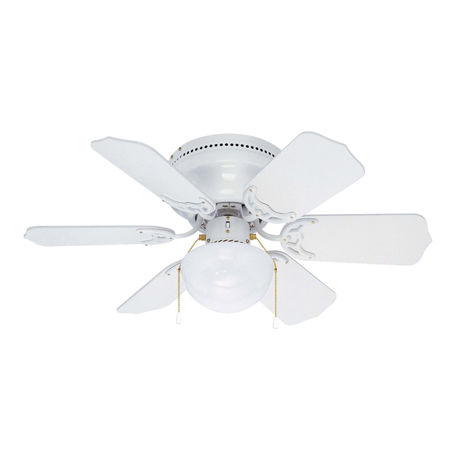 Shop Litex Vortex Hugger 30 In White Flush Mount Ceiling
