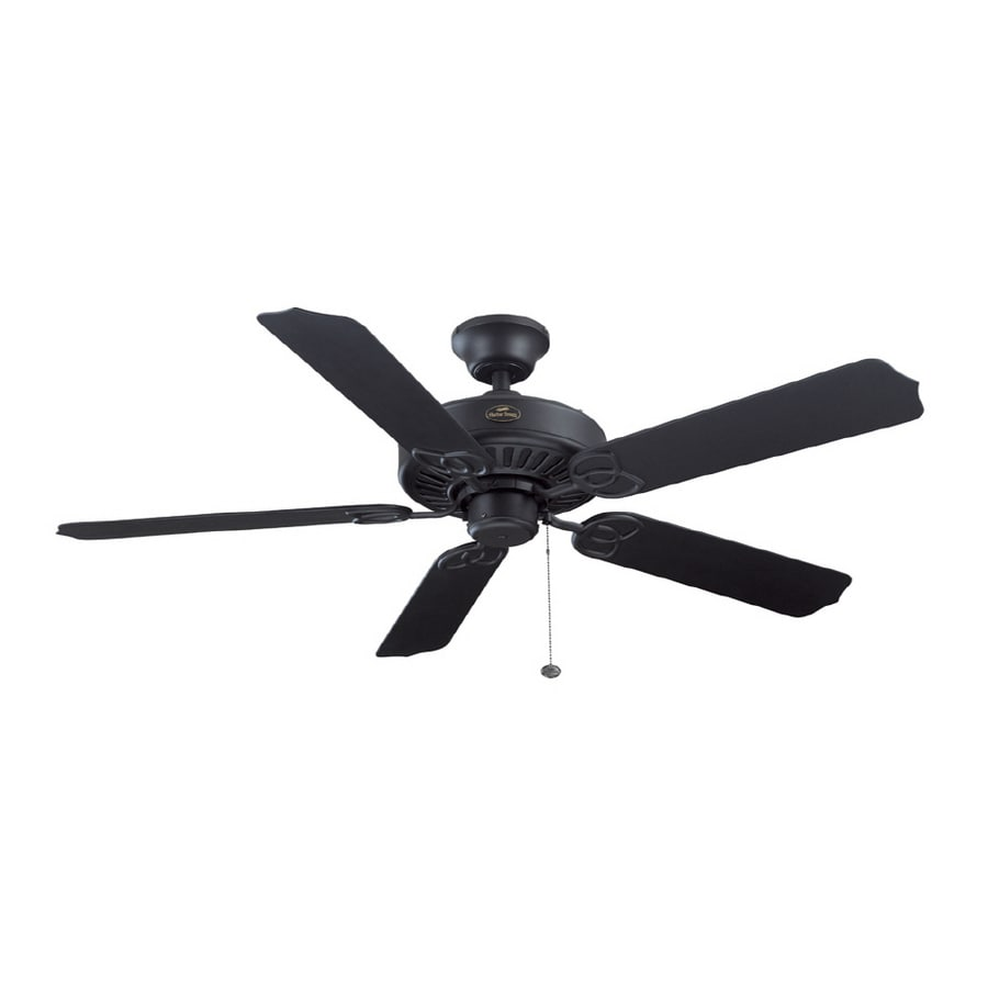 "Harbor Breeze 52"" Calera Matte Black Outdoor Ceiling Fan ..."