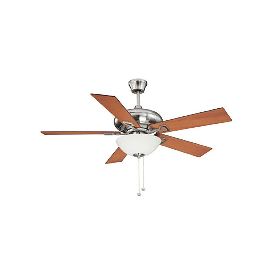 Litex 52-in Brushed Nickel Downrod Mount Indoor Residential Ceiling Fan with Light Kit