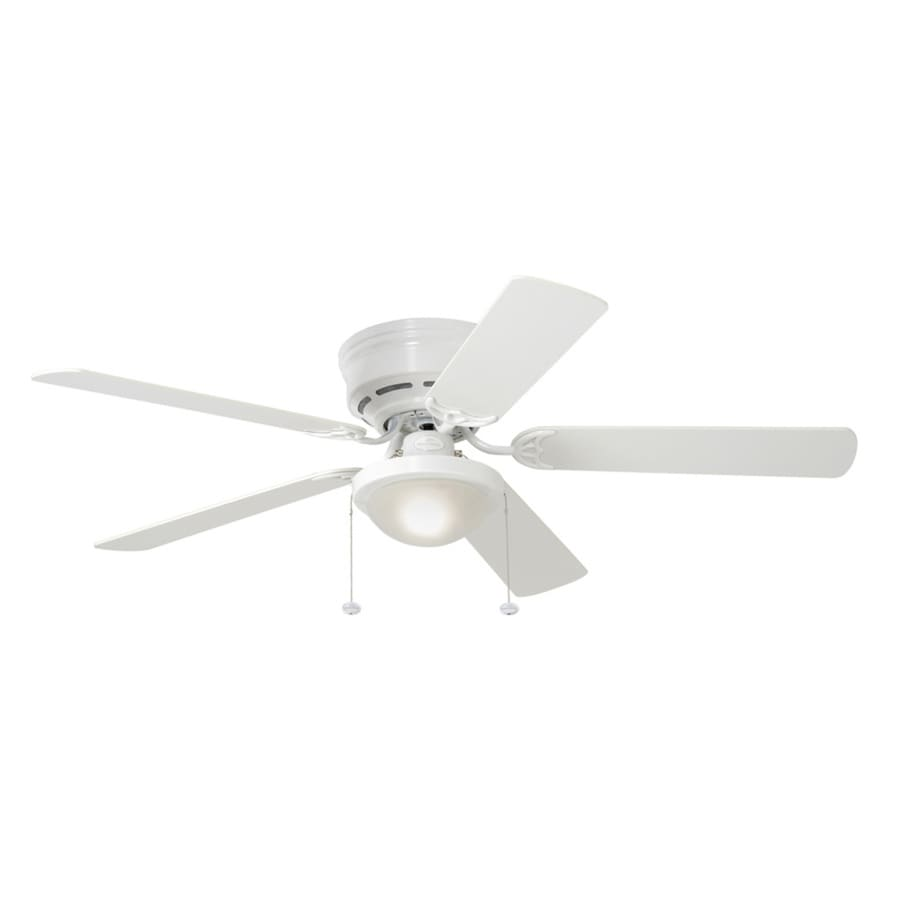 Shop Harbor Breeze Armitage 52 In White Indoor Flush Mount Ceiling Fan With L