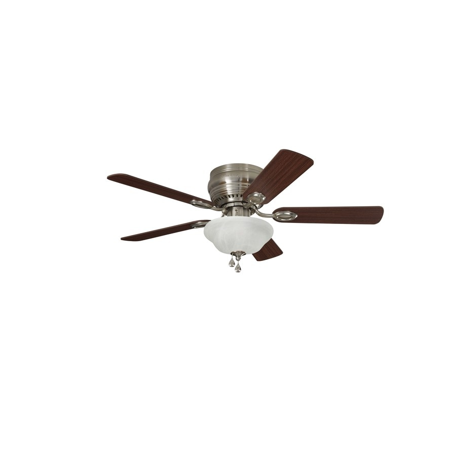 Shop harbor breeze mayfield 44 in brushed nickel indoor flush mount harbor breeze mayfield 44 in brushed nickel indoor flush mount ceiling fan with light kit aloadofball