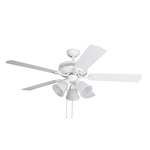 Harbor Breeze 3-Light White Incandescent Ceiling Fan Light Kit with Frosted Glass