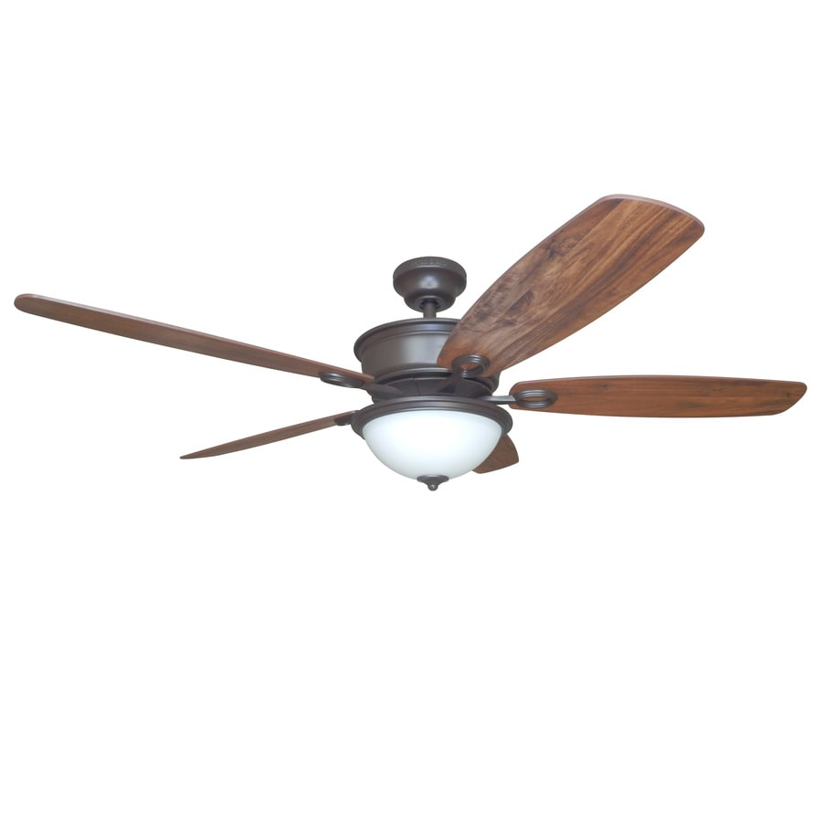 Harbor Breeze Bayou Creek 56 In Bronze Indoor Ceiling Fan With Light Kit And Remote Energy Guide