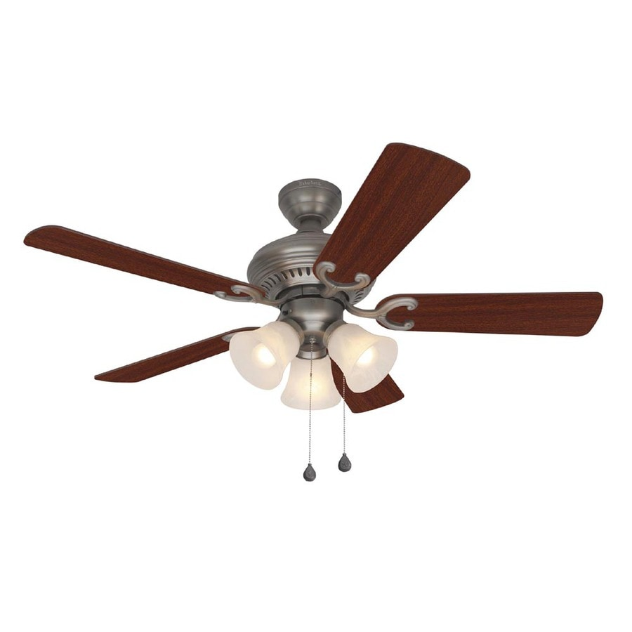 Harbor Breeze Bellevue 44-in Antique Nickel Multi-Position Ceiling Fan with Light Kit
