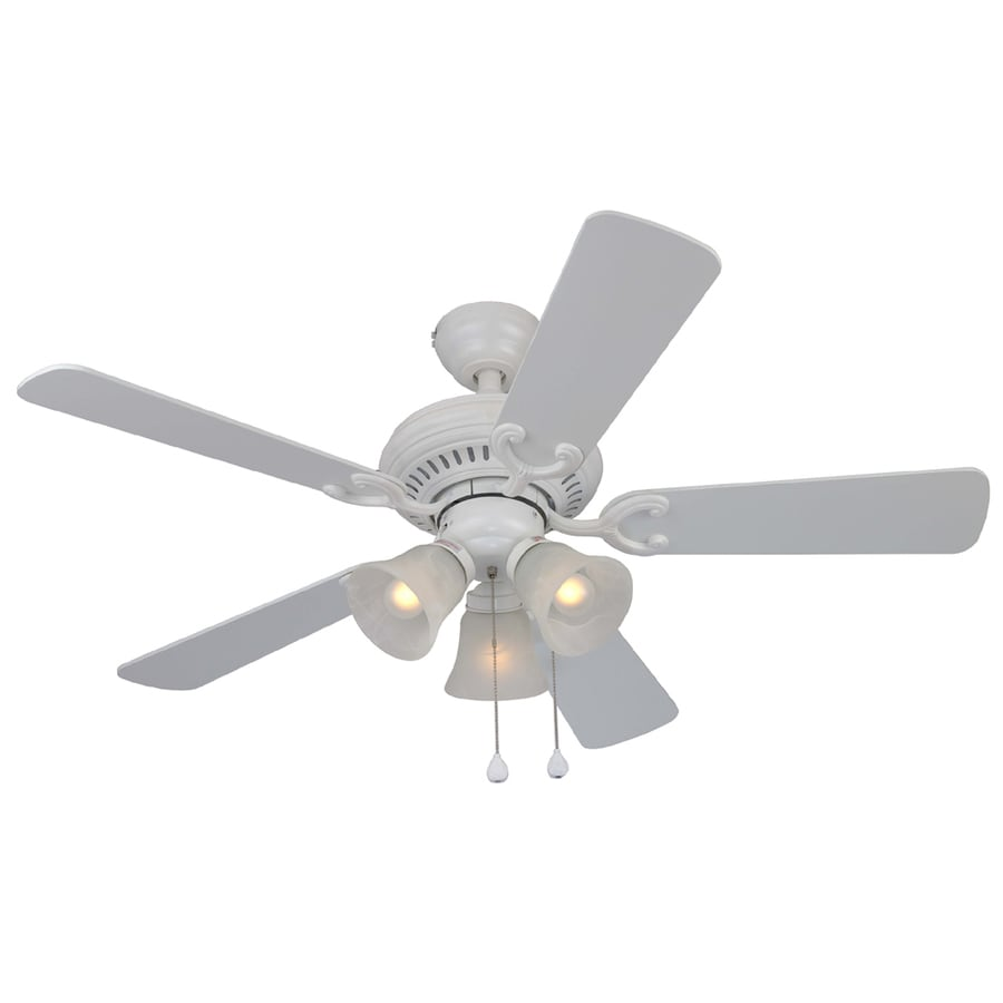 Harbor Breeze 44 Bellevue Matte White Ceiling Fan