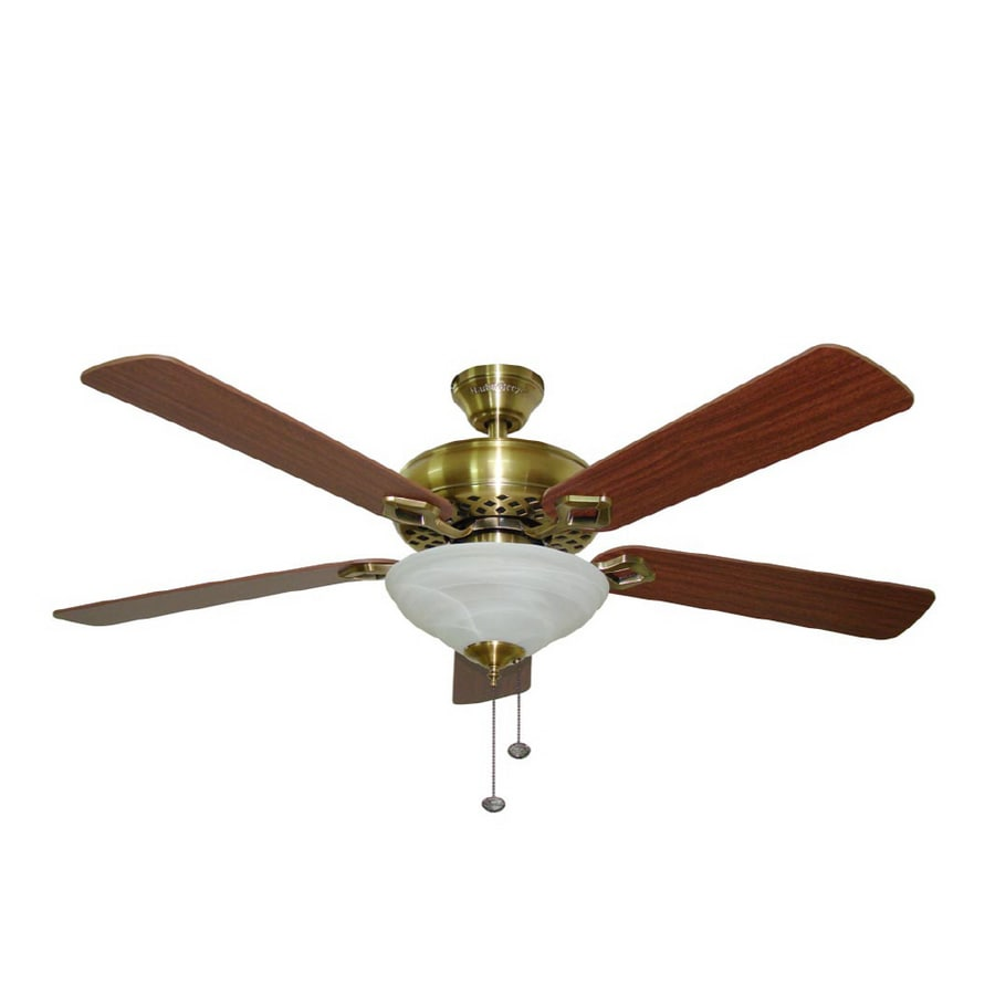 Old Ceiling Fan Parts : Shop harbor breeze quot shelby antique brass ceiling fan at