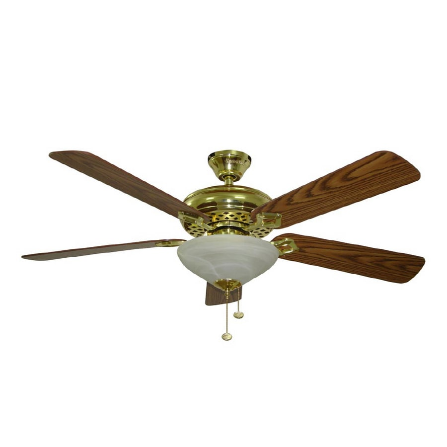 Shop harbor breeze 52 shelby polished brass ceiling fan at lowes harbor breeze 52 shelby polished brass ceiling fan audiocablefo