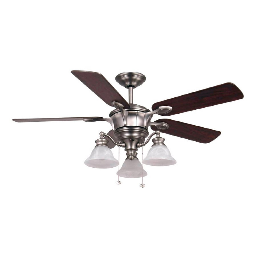 Shop harbor breeze 52 bellhaven brushed nickel ceiling fan at lowes harbor breeze 52 bellhaven brushed nickel ceiling fan aloadofball Choice Image