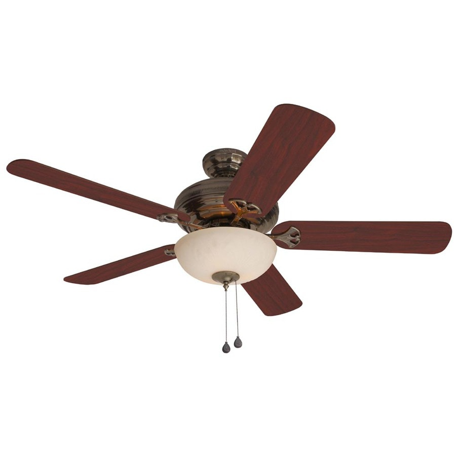 Harbor Breeze Sandoval 52-in Caribbean Brass Multi-Position Indoor Ceiling Fan with Light Kit