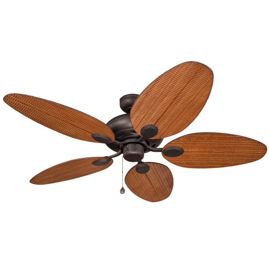 Harbor Breeze Tilghman 52-in Aged Bronze Downrod or Close Mount Indoor/Outdoor Residential Ceiling Fan ENERGY STAR