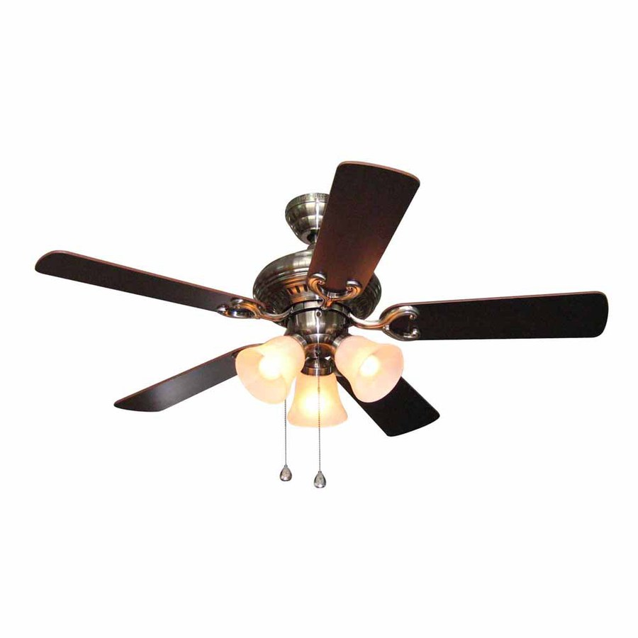 Harbor Breeze 44-in Polished Pewter Multi-Position Indoor Ceiling Fan with Light Kit