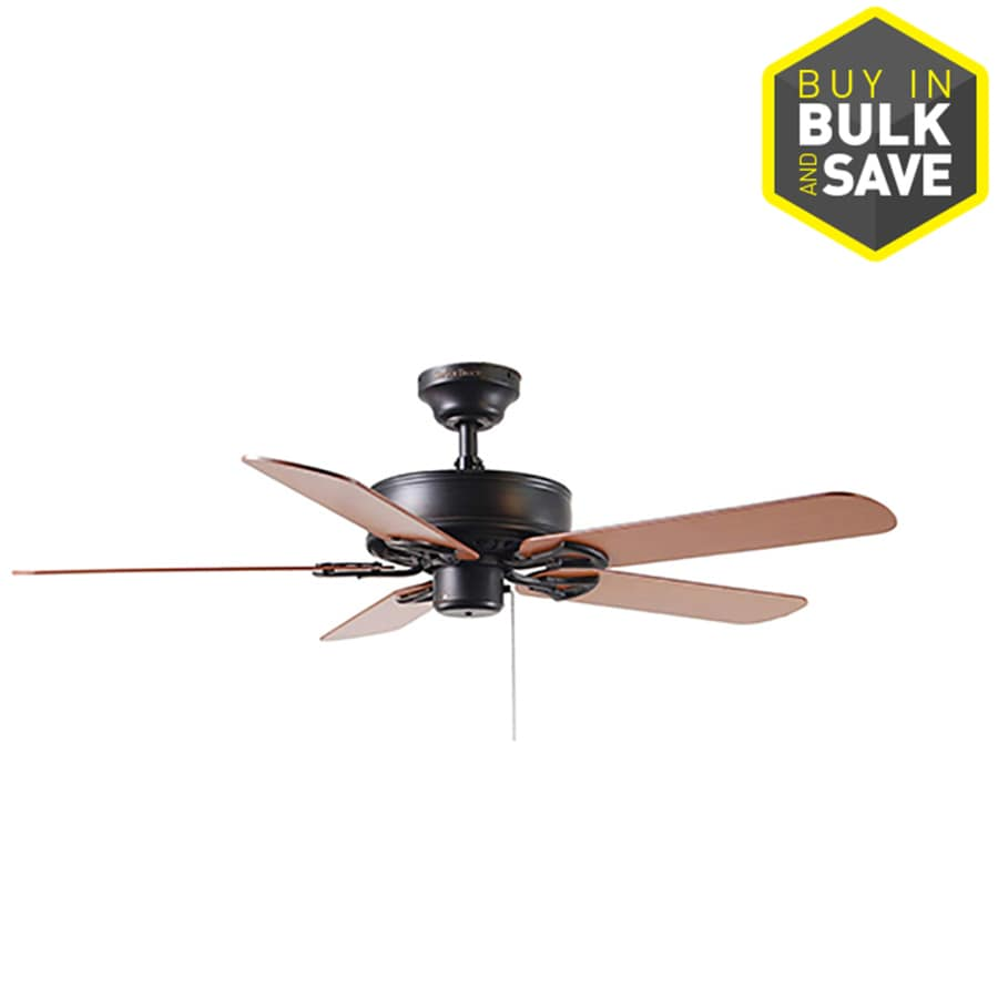 Harbor Breeze Classic 52-in Antique Bronze Indoor Downrod Or Close Mount Ceiling Fan ENERGY STAR