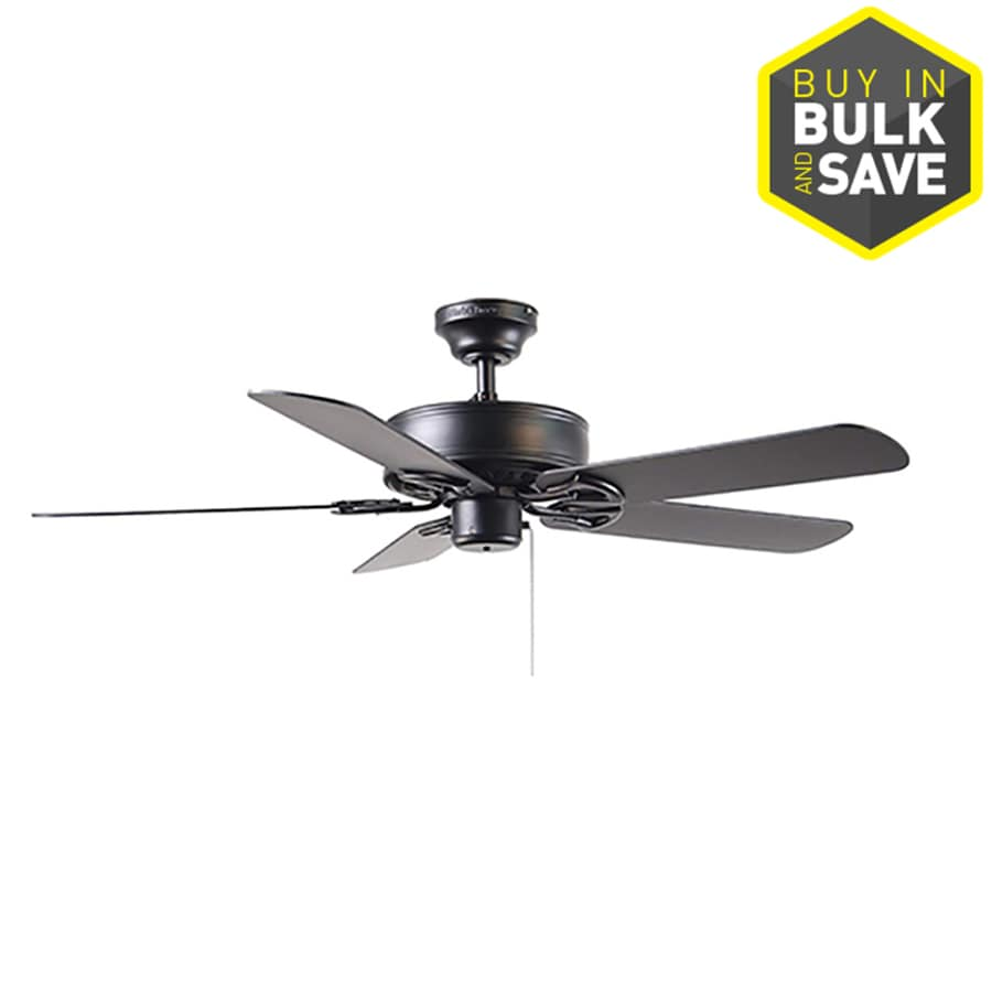 Shop harbor breeze classic 52 in matte black indoor downrod or harbor breeze classic 52 in matte black indoor downrod or close mount ceiling fan aloadofball Image collections