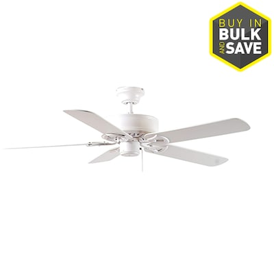 Clic 52 In Matte White Indoor Residential Ceiling Fan With Adaptable Light Kit 5 Blade