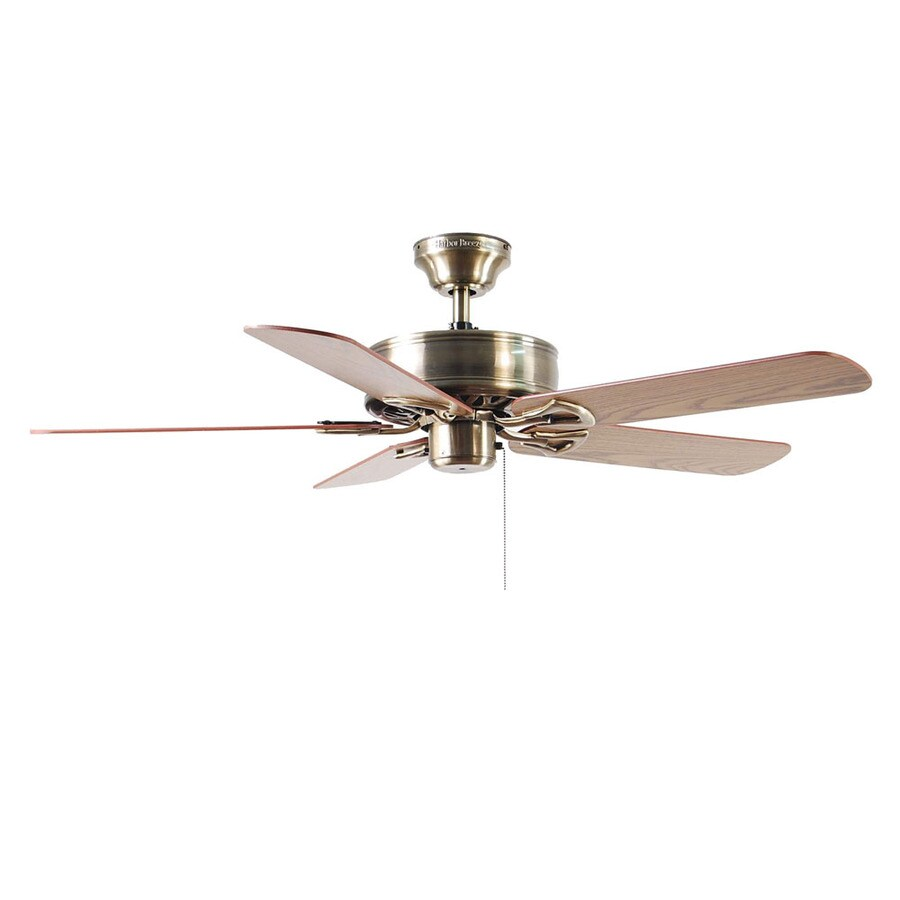 Harbor Breeze Classic 52-in Antique Brass Multi-Position Indoor Ceiling Fan ENERGY STAR