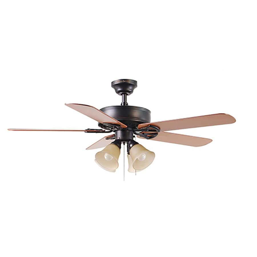 Shop Harbor Breeze Springfield Ii 52 In Bronze Indoor Ceiling Fan With Light Kit At Lowes Com