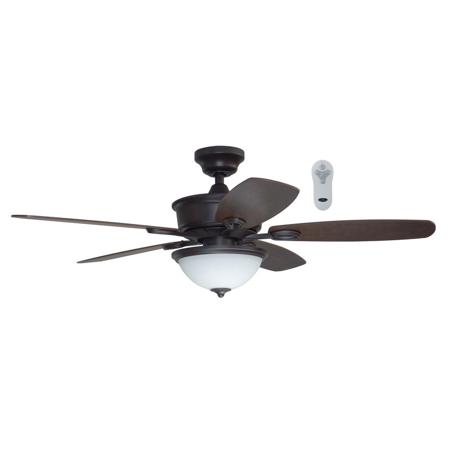 Litex Bayou Creek 48-in Bronze Downrod Or Close Mount Indoor Ceiling Fan with Light Kit and Remote
