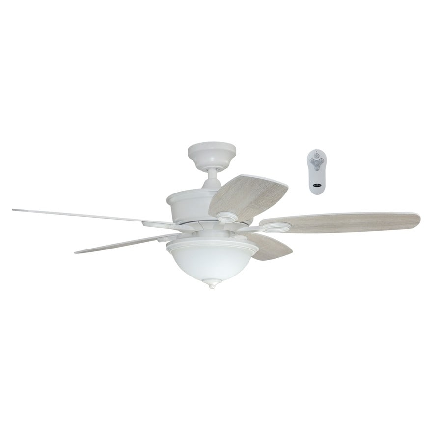 Litex Bayou Creek 56-in White Downrod Or Close Mount Indoor Ceiling Fan with Light Kit and Remote