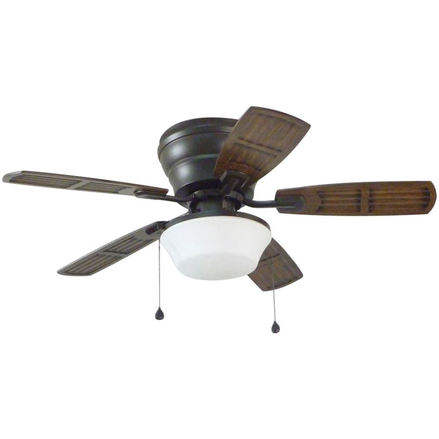 Litex Mooreland 44 In Bronze Indoor/Outdoor Flush Mount Ceiling Fan With  Light Kit