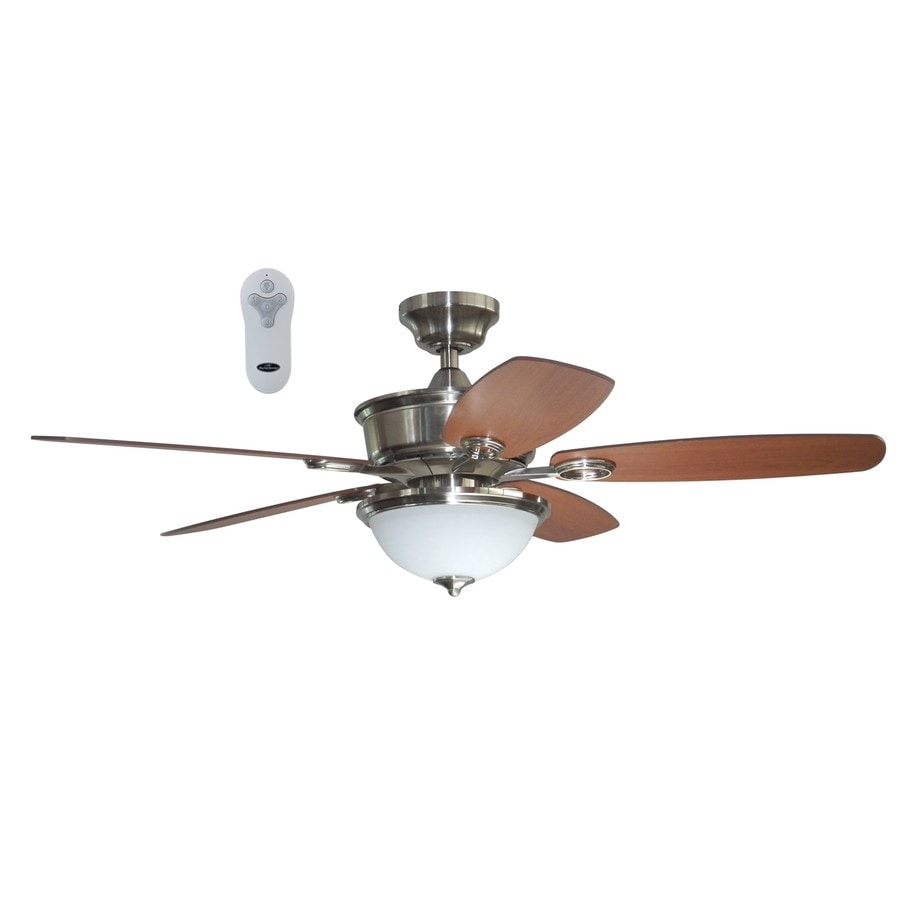 Litex Bayou Creek 56-in Brushed Nickel Indoor Downrod Or Close Mount Ceiling Fan with Light Kit and Remote