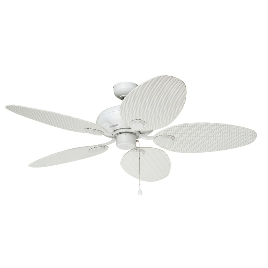 Shop harbor breeze tilghman 52 in matte white indooroutdoor ceiling harbor breeze tilghman 52 in matte white indooroutdoor ceiling fan aloadofball Image collections