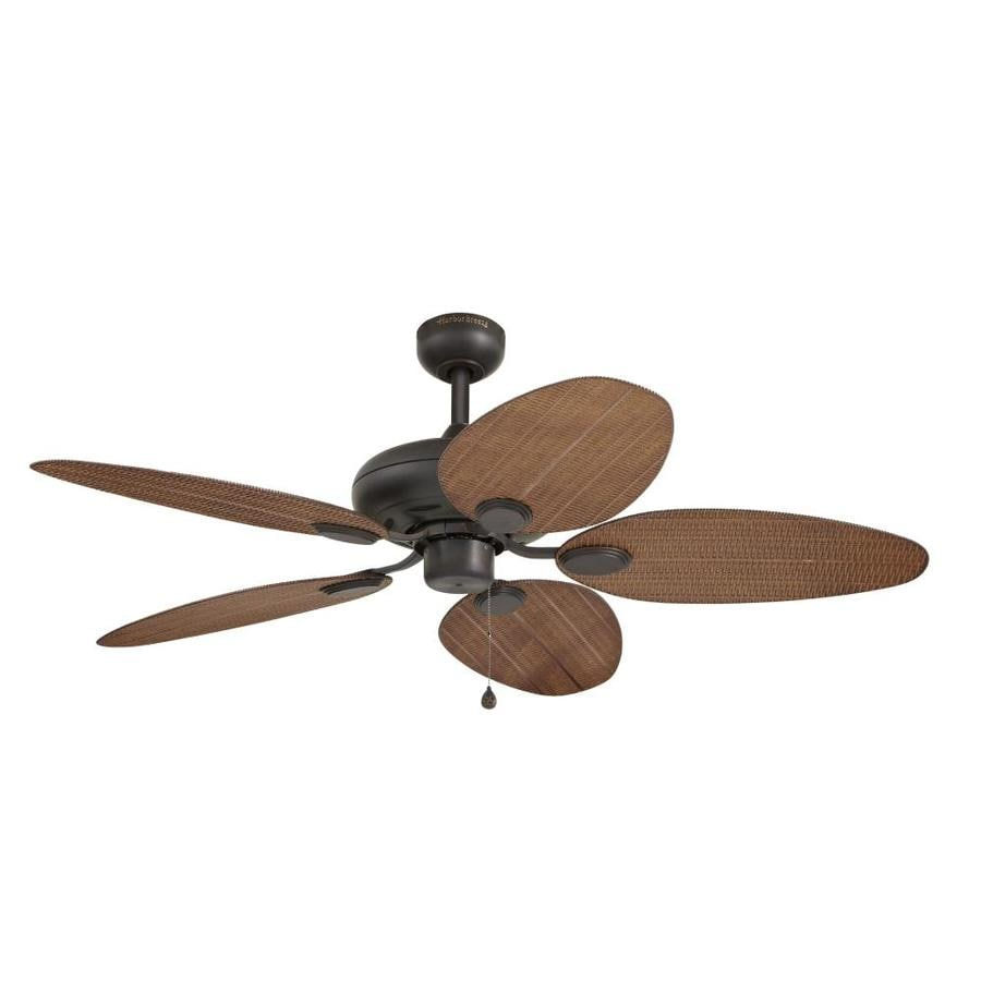 Harbor Breeze Tilghman 52-in New Bronze Indoor/Outdoor Downrod Or Close Mount Ceiling Fan ENERGY STAR