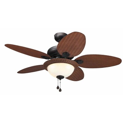 Harbor Breeze Tilghman 44 In Aged Bronze Downrod Or Close Mount Indoor Outdoor Ceiling Fan With