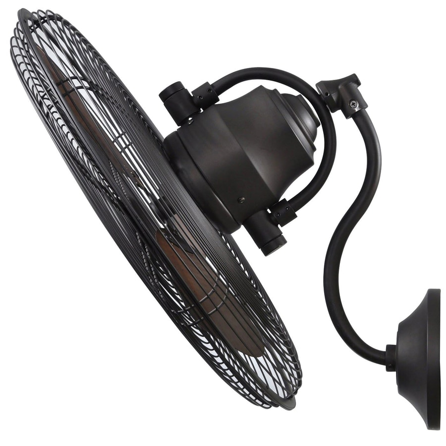 Decorative Wall Mounted Fans shop allen + roth 18-in 3-speed oscillation fan at lowes