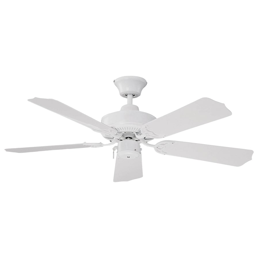 Litex 42 Quot All Weather White Outdoor Ceiling Fan At Lowes Com