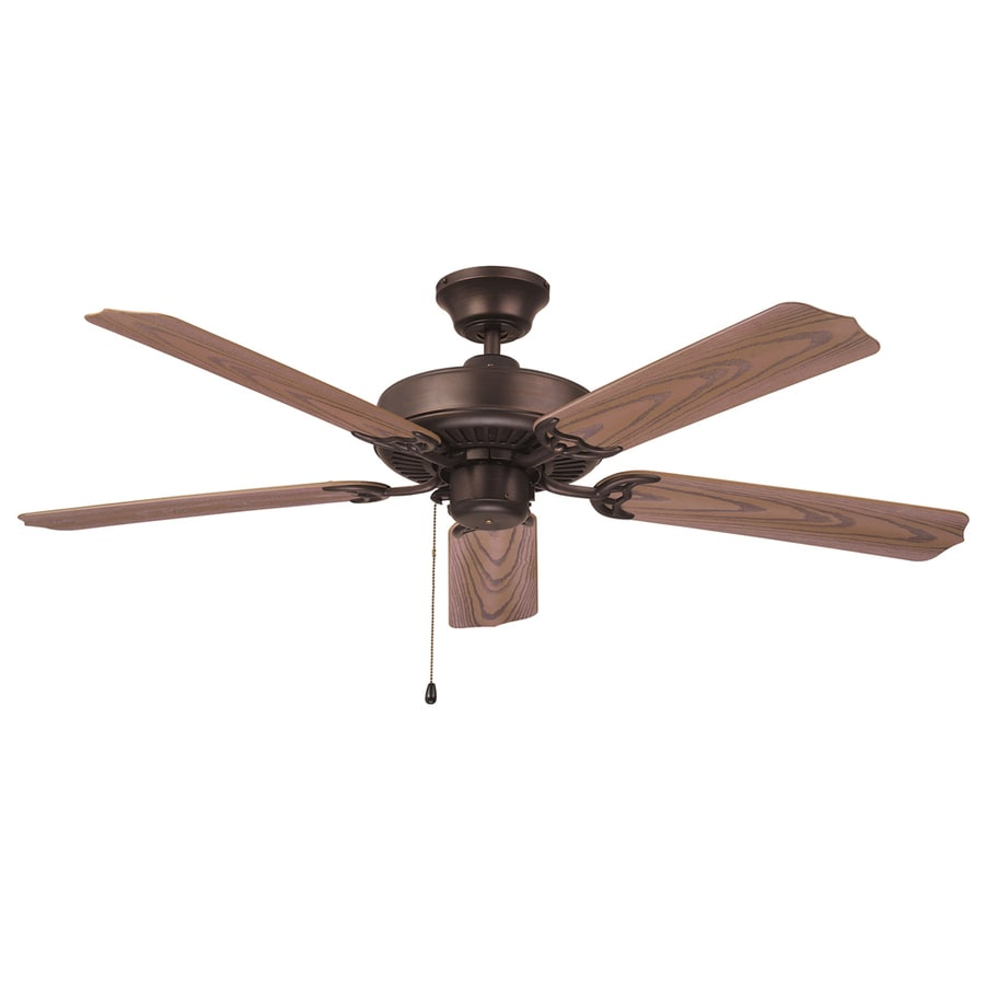 Litex All Weather 52 In Aged Bronze Downrod Or Flush Mount Ceiling Fan