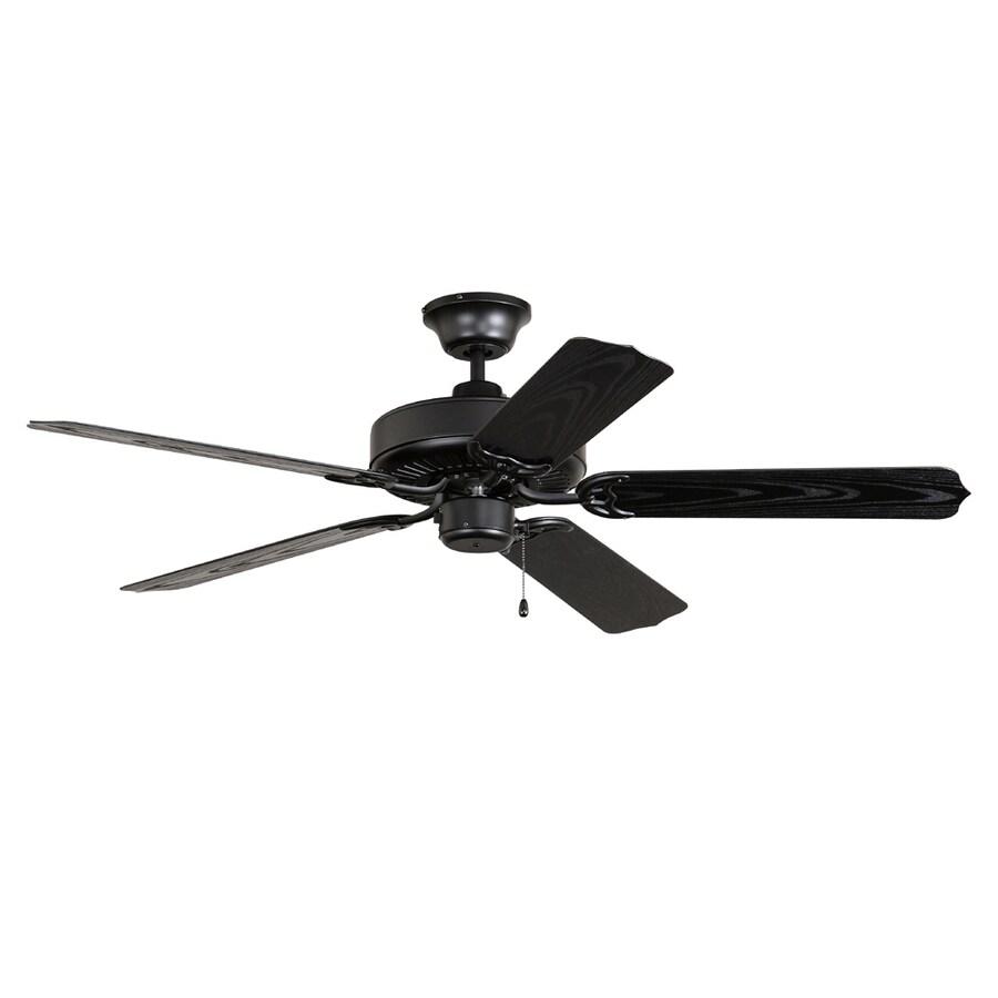 Litex All Weather 52-in Matte Black Multi-Position Ceiling Fan