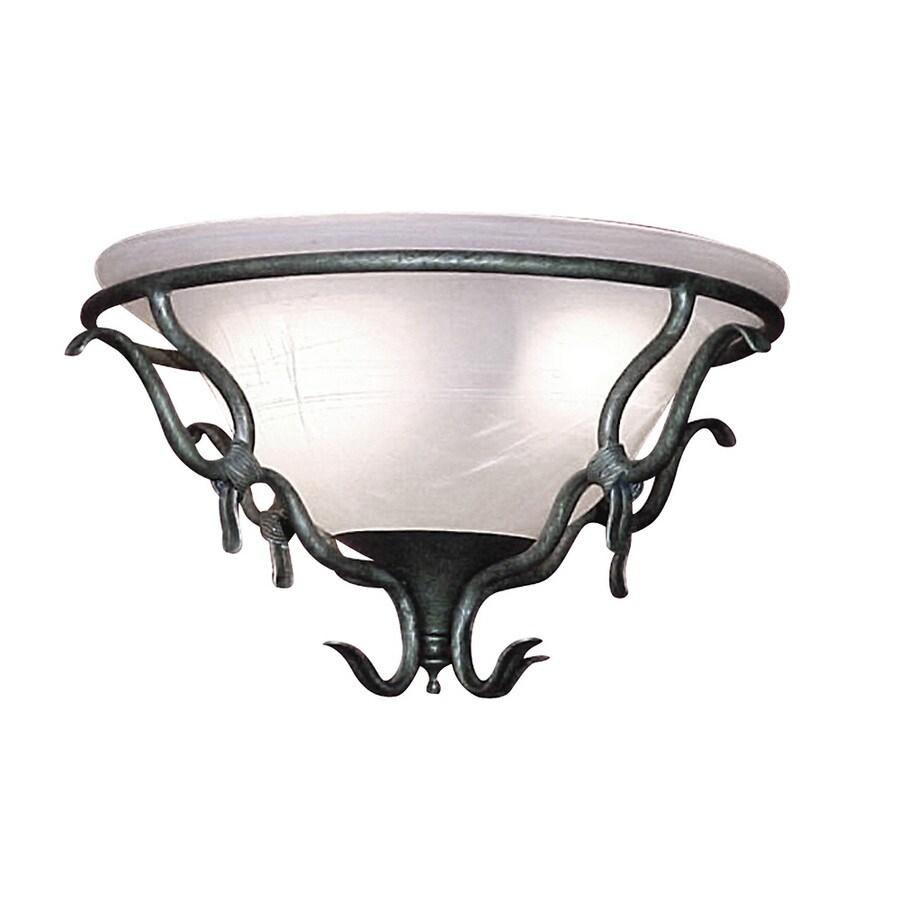 Harbor Breeze 2-Light Vintage Pewter Ceiling Fan Light Kit with Alabaster Bowl Shade