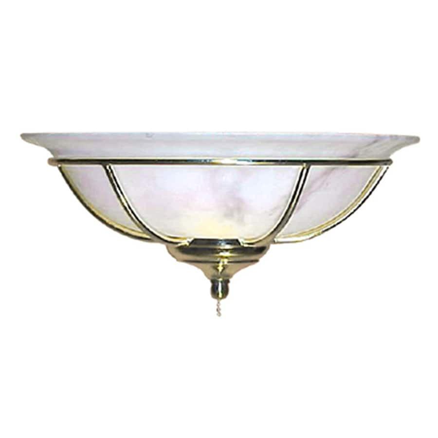 Harbor Breeze 2-Light Polished Brass Ceiling Fan Light Kit with Alabaster Bowl Glass or Shade